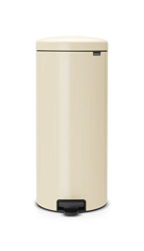 Brabantia 114281 Treteimer mit Inneneimer aus Kunststoff, Stahl, 30 Liter, almond