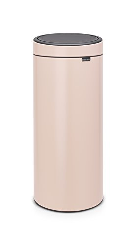 Brabantia 115226 Touch Bin New mit herausnehmbaren Kunststoffeinsatz, clay pink, 30 L