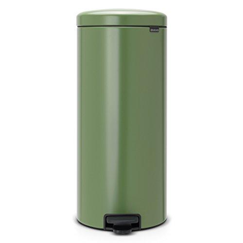 Brabantia Treteimer mit Inneneimer aus Kunststoff, stahl, Moos Grün, 30 Liter