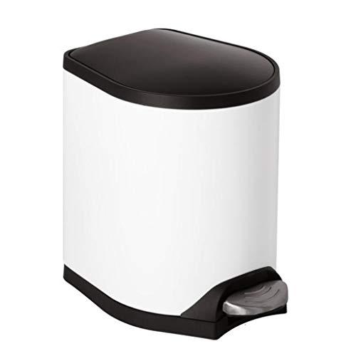 QQB &Indoor-Mülleimer Mülleimer - europäischer Fuß-stummer Edelstahl-Küchen-Wohnzimmer mit Deckel-gesundheitlichem Reinigungs-Eimer (Farbe : B, größe : 10l)
