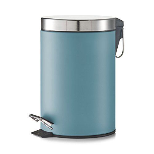Zeller 18223 Treteimer, 3 Liter, Metall, ca. 17 x 17 x 26 cm, blau