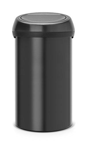 Brabantia 402562 Touch Bin Abfalleimer 60 l, matt schwarz