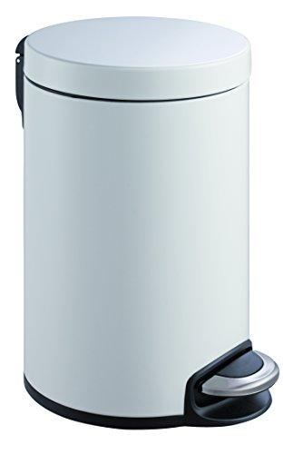 EKO Serene Tritt-Mülleimer 20 L, Metall, weiß, 45.5 x 29.2 x 45.5 cm
