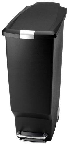simplehuman Tretmülleimer 40l Kunststoff schwarz