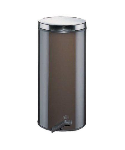 Wesco 127 531-12 Gastro-Tretabfallsammler, 22 Liter, feuerverzinkter Einsatz, braun