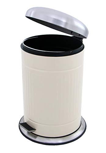 20 L Retro Tret-Abfalleimer 50er-Jahre Mülleimer nostalgie Küchen-Mülleimer 20 Liter Abfall-Behälter für Gelber-Sack Kompost Rest-Müll original Made for us