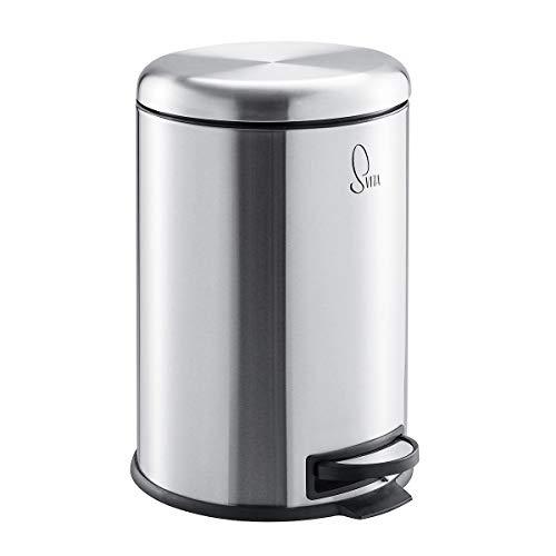 SVITA T20 Edelstahl Mülleimer Treteimer Abfalleimer 20 Liter inkl. Inneneiner rund Küchen-Hilfe