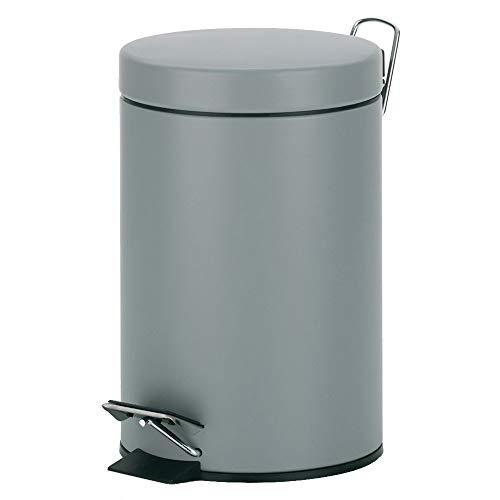 kela Kosmetikeimer Polino 3L aus Metall in hellgrau, Bright Grey, 17 x 17 x 26 cm