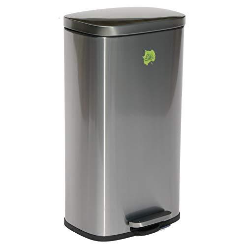 Made for us 30 Liter Edelstahl Mülleimer Tret-Abfalleimer Küchen-Mülleimer 30 L Abfall-Eimer Pedal-Treteimer