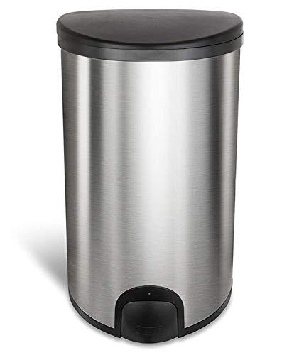 Homra Sensor Mülleimer mit Fußsensor, 50 Liter - Hochwertiger Edelstahl – Fingerabdruckfrei, Geruchsdicht, Innenring - Automatische Abfalleimer für Küche