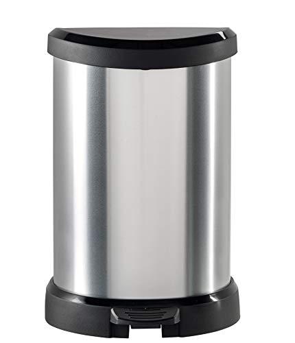 "CURVER 02120""Metallic's Abfallbehälter 20 Liter, metallic-silber"