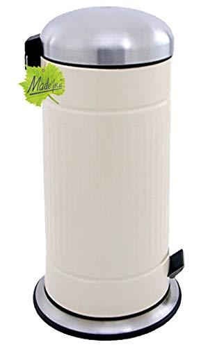 Made for us 30 L Retro Tret-Abfalleimer 50er-Jahre Design Mülleimer Nostalgie Küchen-Mülleimer 30 Liter Abfall-Behälter für gelber-Sack Grüner-Punkt