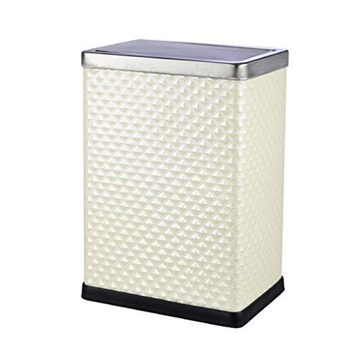 QQB &Indoor-Mülleimer Mülleimer - Einfache Shake-Cover-Art Creative Home Office mit Deckel Sanitärreiniger (Farbe : A, größe : 10L)