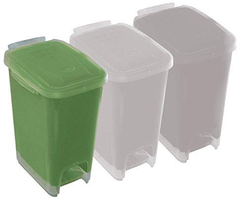 ROLLER Tretmülleimer - grün - 16 Liter