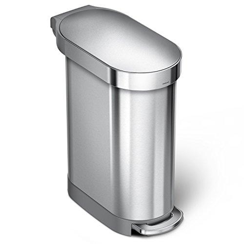 simplehuman CW2044 - Schmaler Treteimer - 45 Liter - gebürsteter Stahl