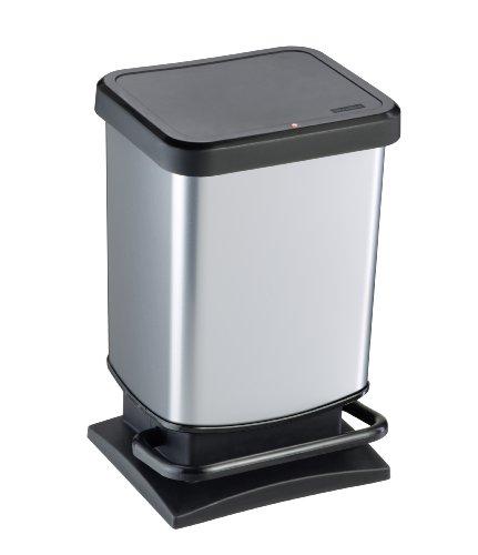 Rotho 1754010264 geruchssicherer Abfalleimer Silber Metallic 20 Liter