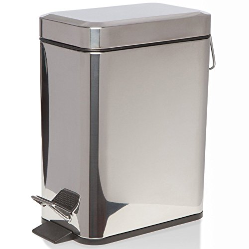 Generic dyhp-a10-code-6353-class-1–Müll Stahl New Line H Papierkorb 5L Schritt Pedal im Line Tretmülleimer WC-N Toi Badezimmer Slim P–-nv _ 1001006353-hp10-uk